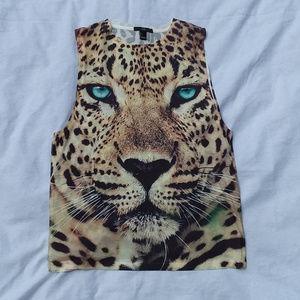 2/$20 XXI cheetah face tank top